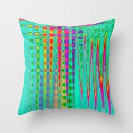 Turquoise Cardio Throw Pillow