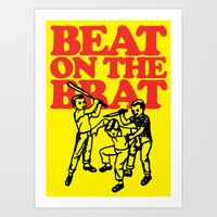 ramones Art Prints featuring Beat on the Brat by Sellergren Design - Art is the Enemy