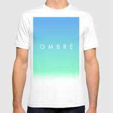 OMBRE #1 MEDIUM White Mens Fitted Tee