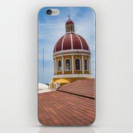 Looking towards Lake Nicaragua from Granada Cathedral iPhone Skin