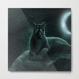 cat big night Metal Print