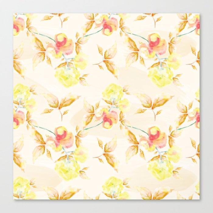 Delicate Floral Pattern 06 Canvas Print