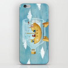 AIRSHIP IN A BOTTLE iPhone Skin