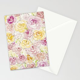 Faded Roses - Watercolor Stationery Cards