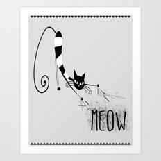 Meow part 1 Art Print
