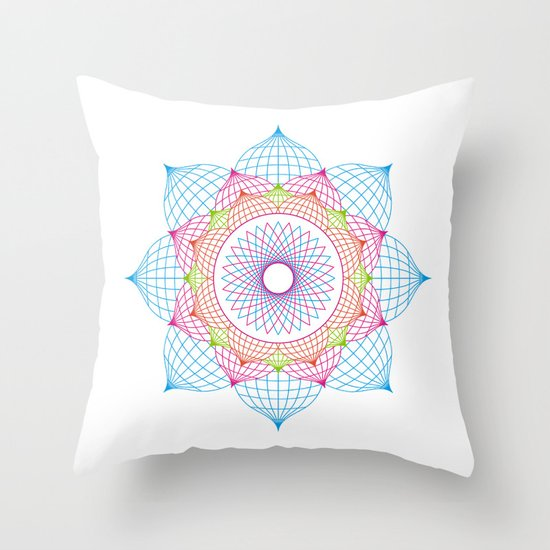 Lotus Flower Throw Pillow by Quick Brown Fox Society6