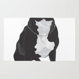 The Black & White Boxer Rug