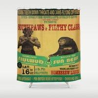 boxing Shower Curtains featuring Boxing Poster by EverEvolvingEpithet