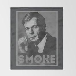 Smoke! Funny Obama Hope Parody (Smoking Man)  Throw Blanket