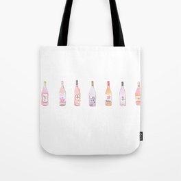 Watercolor Rosé Wine Bottles Tote Bag