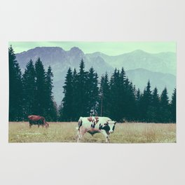 Cows and Mountains Rug