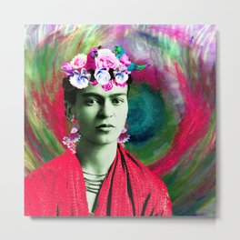 Frida Love's Freeda Metal Print