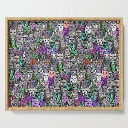 Gemstone Cats UltraViolet Green Palatte Serving Tray