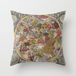 Keller's Harmonia Macrocosmica - Scenography of the Southern Celestial Hemisphere 1661 Throw Pillow