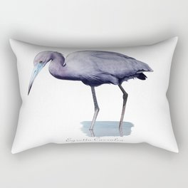 Little blue heron Rectangular Pillow