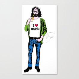 ipster jesus Canvas Print