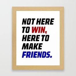 IRL Winning Framed Art Print