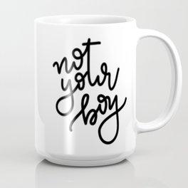 not your boy - cursive Coffee Mug