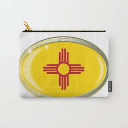 New Mexico State Flag Oval Button Carry-All Pouch