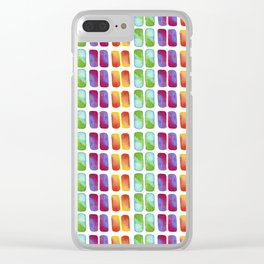 Color pops in Watercolor Clear iPhone Case