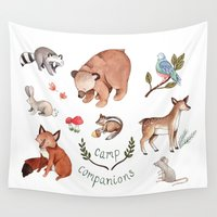 camp Wall Tapestries featuring Camp Companions by Brooke Weeber