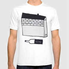 Home MEDIUM White Mens Fitted Tee