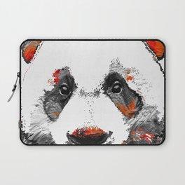 Panda Bear Art - Black White Red - By Sharon Cummings Laptop Sleeve