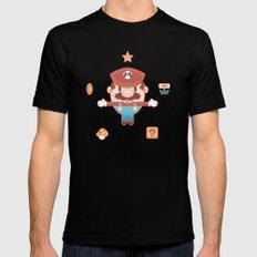 Super Mario Black MEDIUM Mens Fitted Tee
