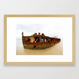 Ship wreck, Fraser Island, Queensland, Australia Framed Art Print