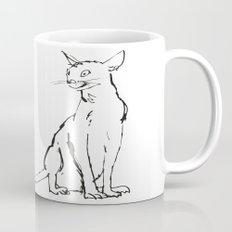 Skinny cat illustration Mug