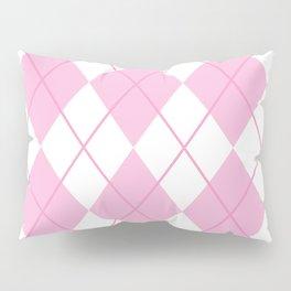 Pink Argyle Pillow Sham