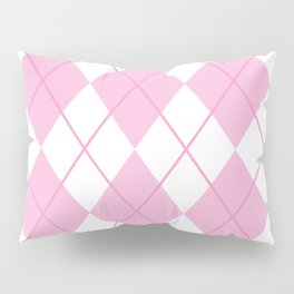 Pink Argyle Pillow Sham
