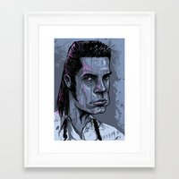nick cave Framed Art Prints featuring Nick Cave by Melissa Dow Illustration