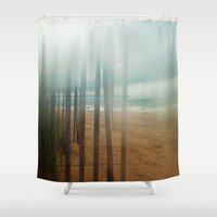 wander Shower Curtains featuring Wander by Bella Blue Photography