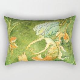 Treasures of the Lotus Nymph Rectangular Pillow