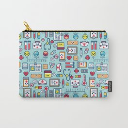 Proud To Be a Nurse Pattern / Blue Carry-All Pouch