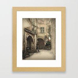 Secret Alleyway Framed Art Print