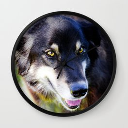 Friendly Pooch Wall Clock