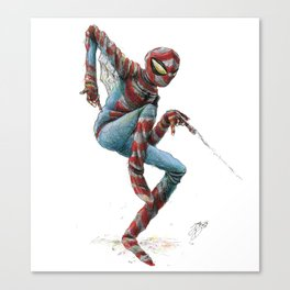 The JaxDav Spidey Suit Canvas Print