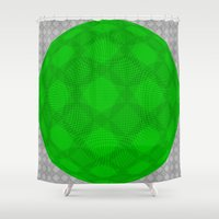 globe Shower Curtains featuring Green globe by LoRo  Art & Pictures