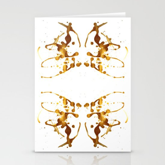 Symmetria Gold 1 Stationery Cards