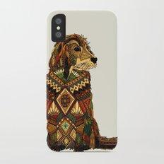 Golden Retriever ivory iPhone X Slim Case