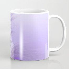Modern purple lilac abstract peacock feathers gradient Coffee Mug