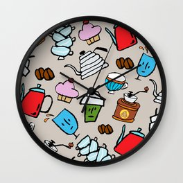 Coffeeholic Wall Clock