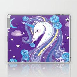 Magical Unicorn in Purple Sky Laptop & iPad Skin