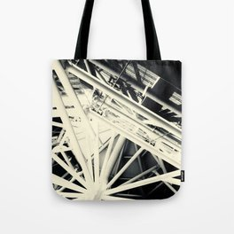 Spider Roof Struts Abstract Tote Bag