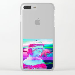 Glitch Effect Aesthetic Greek Statue. Vaporwave Retro Design product Clear iPhone Case