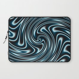 Blue and Black Licorice Ribbon Candy Fractal Laptop Sleeve