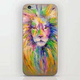 Colorful lion iPhone Skin
