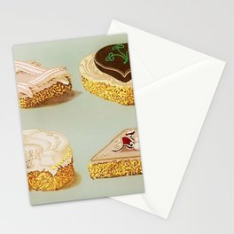 Decorated French Cakes Gateaux, Pastry, petit fours - T. Percy Lewis & A. G. Bromley Poster Stationery Cards